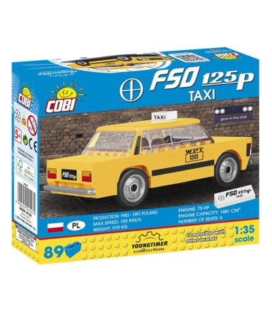 Klocki Youngtimer Collection 89 elementów FSO 125p Taxi