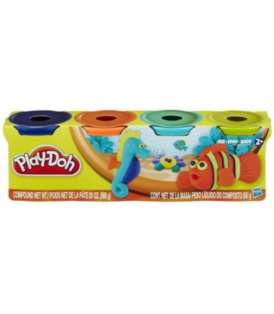 PlayDoh 4 Tuby, Bold Colors