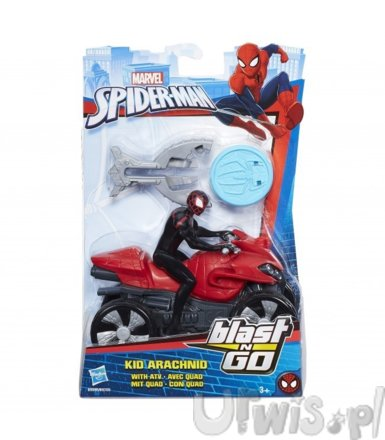 Hasbro Spider-man Scigacz Blast Kid Arachnid with ATV