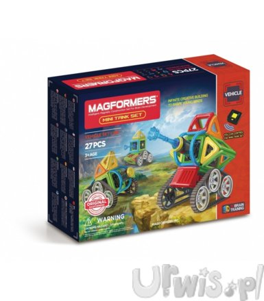 MAGFORMERS  27 elementów, Vehicle Mini tank