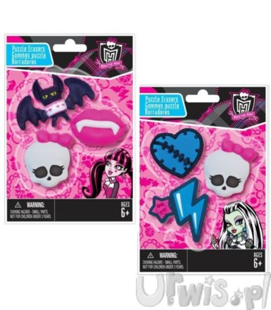 MONSTER HIGH Gumki do ścierania