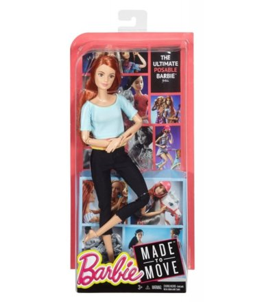 BARBIE Made to Move Lalki Red Hair