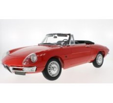 Alfa Romeo 1600 Duetto Spider 1966 (red) (52 cm long x 25 cm breit, without showcase)