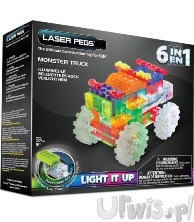 LASER PEGS 6 in 1 Monster Truck