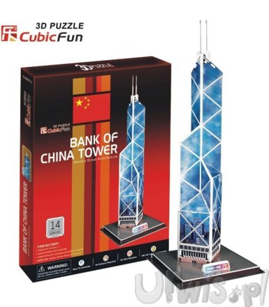 PUZZLE 3D Budynek Bank of China
