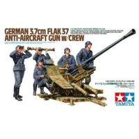 German 3.7cm FLAK 37 Anti-Aircraft Gun w/Crew