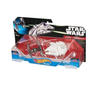 SW Statek kosmiczny dwupak First Order Tie Fighter vs Millennium Falcon Starship