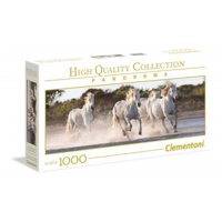 1000 elementów Panorama High Quality Running Horses