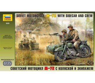 ZVEZDA Soviet Motorcycle M-72 with