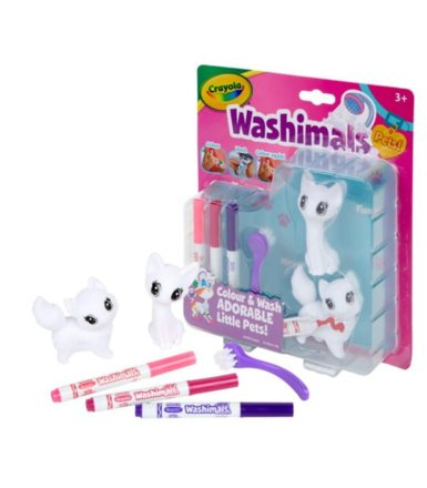 Figurki do malowania Washimals Blister Pack Koty Crayola