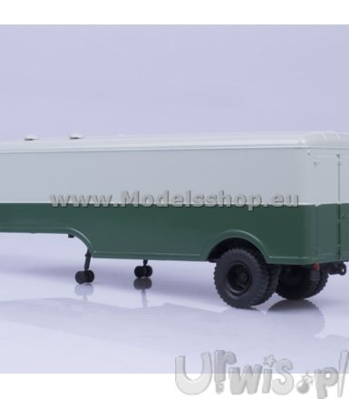 Semitrailer MAZ-5217 (green/grey)