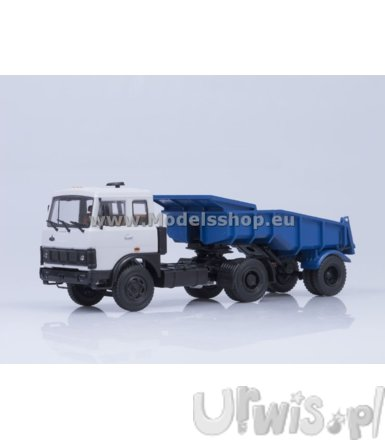 MAZ-5432 with Dumper (white/blue)
