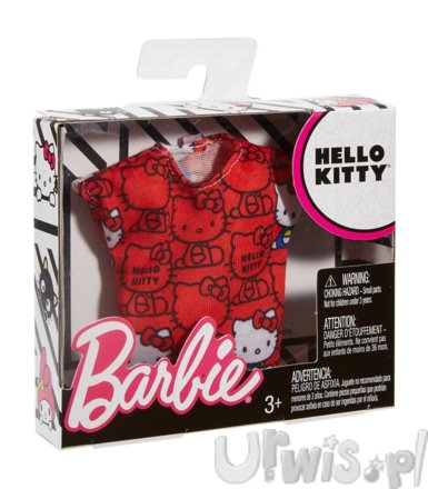 Barbie Hello Kitty czerwony top