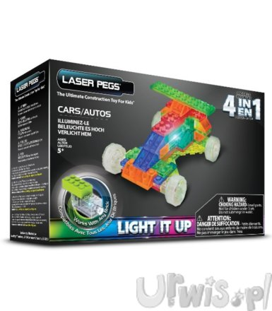 LASER PEGS 4 in 1 Cars