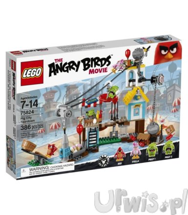 LEGO Angry Birds Demolka w Pig City 75824