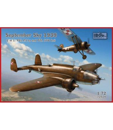 Model plastikowy September Sky 1939 2'1 PZL P.11 and PZL 37B