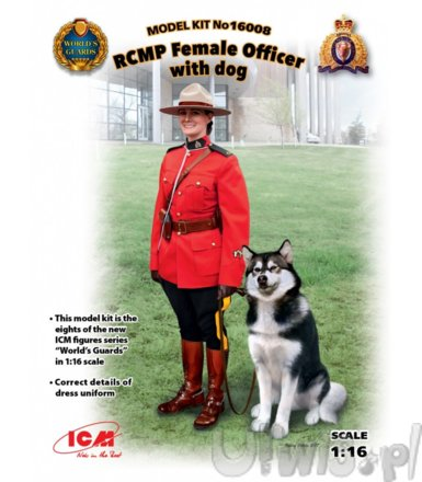 1/16 RCMP Female Officer with dog