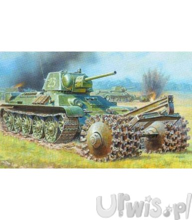 ZVEZDA T-34/76 Tank With Mine Roller