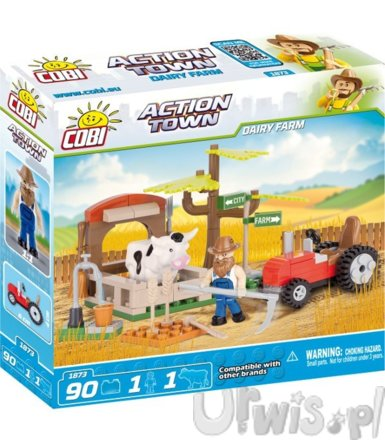 COBI Action Town Farma, krowy 90 el.
