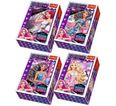 54 ELEMENTY Mini/40sztuk Barbie Rock and Royals