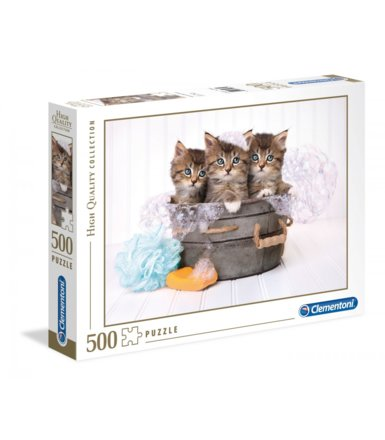 Puzzle 500 elementów High Quality Kittens and Soap