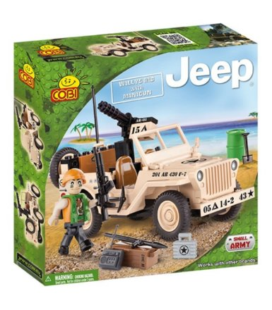 COBI Jeep Willys With Mi ni Gun 95 kl.