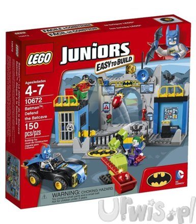 LEGO Juniors Batman Obrona Bat Cave