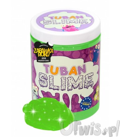 Super Slime TUBAN Brokat Neon Zielony 1kg
