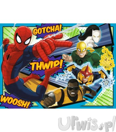 Puzzle 4w1 12/16/20/24 elementy - Ultimate Spider-Man