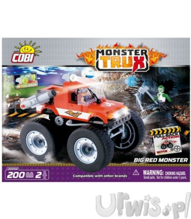 Cobi Monster Trux Big Red Monster z 2 figurkami