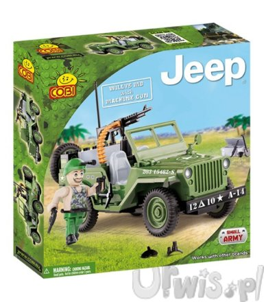 COBI Jeep Willys With Ma chine Gun 95 kl.